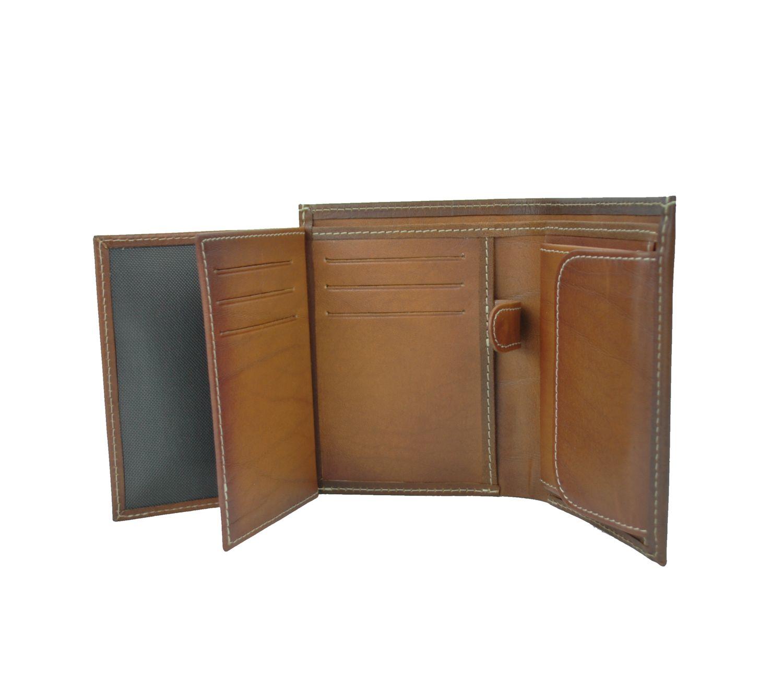 42f97a6612 Luxusná kožená peňaženka č.8560 v hnedej farbe