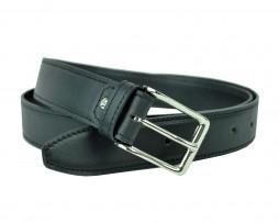 Luxusný opasok z pravej kože, 3cm, čierna farba (3)