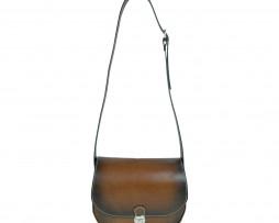 Atraktívna tkaná kožená kabelka č. 8638 v hnedej farbe  2a5f4dd2bd1