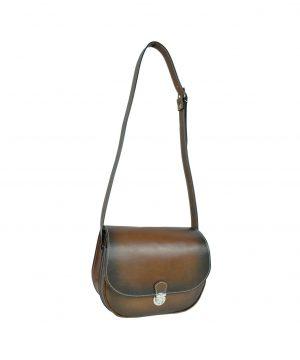 Originálna Kožená kabelka, ručne tieňovaná (2)