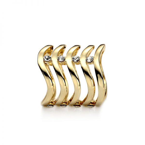 Šperk na šatku, Vlnitý drahokam v zlatej farbe (2)