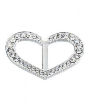 Šperk na šatku v tvare srdiečka v striebornej farbe (1)
