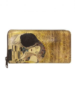 Ručne maľovaná peňaženka 8606 inšpirovaná motívom Gustav Klimt