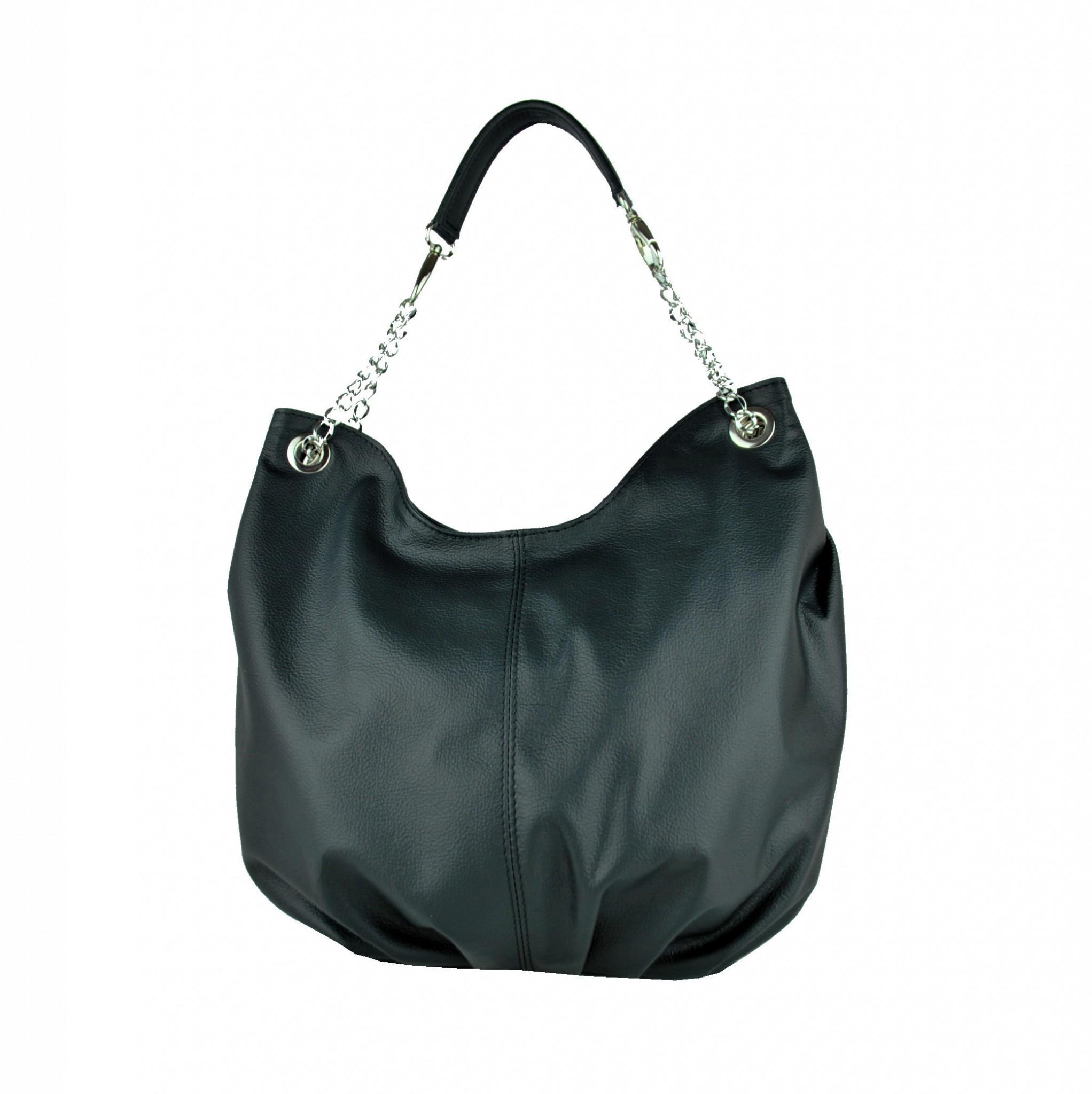 03f96c60bf Dámska štýlová kožená kabelka v čiernej farbe - Kožená galantéria ...