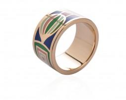 Elegantná brošňa v podobe prsteňa v zlatej farbe - vzor 8