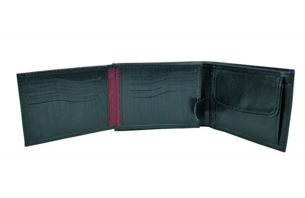 26afcff9b3 Elegantná peňaženka z pravej kože č.8552 v čiernej farbe - Kožená ...