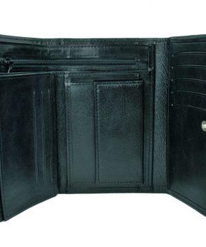 Elegantná peňaženka z pravej kože č.8559 v čiernej farbe. Len u nás Vám ponúkame krásne a dizajnovo moderné dámske a pánske kožené peňaženky (1)