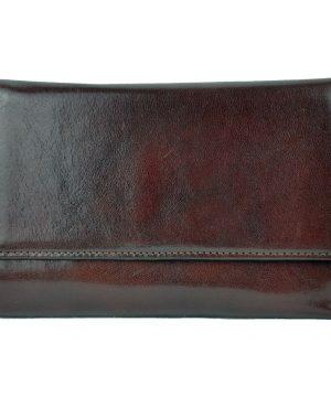 Elegantná peňaženka z pravej kože č.8559 v tmavo hnedej farbe (1)