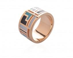 Exkluzívna brošňa v podobe prsteňa v zlatej farbe - vzor 15