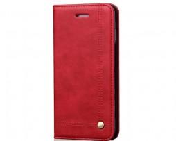 Knižkové-kožené-púzdro-pre-iPhone-X-v-červenej-farbe