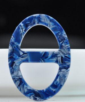 Luxusná pracka na šatku a šál vyrobená zo živice v modrej farbe