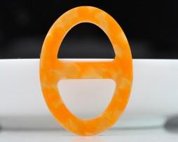 Luxusná pracka na šatku a šál vyrobená zo živice v oranžovej farbe