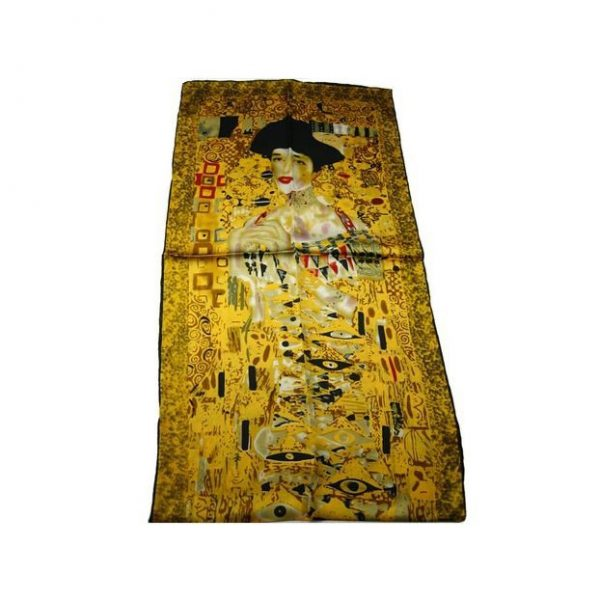 Luxusný-hodvábny-šál-Gustav-Klimt-Adela