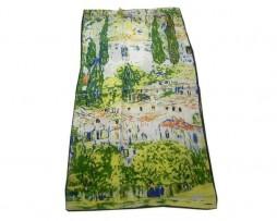 Luxusný-hodvábny-šál-Gustav-Klimt-Kostol-v-Cassone