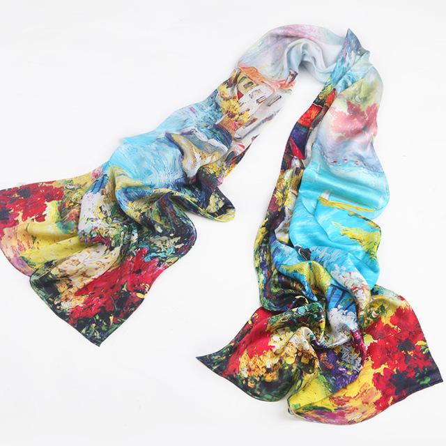 Luxusný hodvábny šál – Neďaleký kaštieľ  f01f19824ac