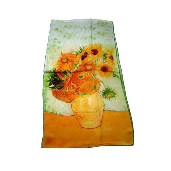 Luxusný-hodvábny-šál-Vincent-Van-Gogh-Slnečnice