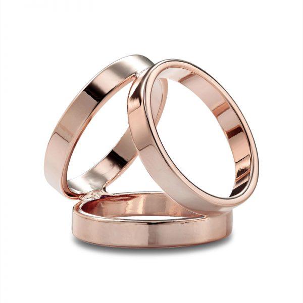 Luxusný-trojprstenec-v-ružovo-zlatej-farbe