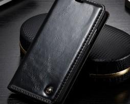 Luxusné-kožené-púzdro-pre-iPhone-X-čierna-farba-1