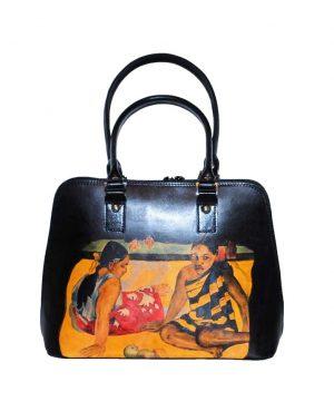Maľovaná-kabelka-s-motívom-Gauguin-Tahitian-Women