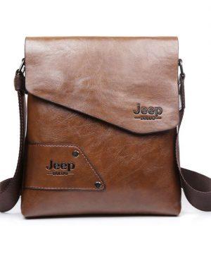 fbcd25b0db Pánska kvalitná kožená taška JEEP v khaki farbe. Dizajnová a kvalitná taška  pre mladých a