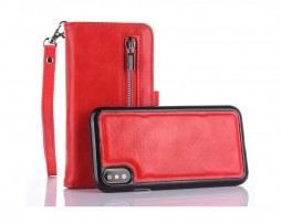 Peňaženka-a-magnetický-obal-na-iPhone-X-z-kože-v-červenej-farbe-4