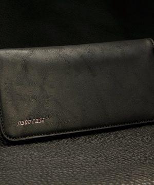 Peňaženkové-púzdro-JISONCASE-pre-pre-všetky-modely-iPhonov-z-pravej-kože-čierna-farba