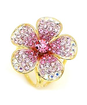 Prstenec na šatky a šály v tvare veľkého nádherného ligotavého kvetu (2)