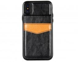 Retro-kožený-obal-a-púzdro-na-karty-pre-iPhone-X-v-čiernej-farbe.-Púzdro-je-vyrobené-z-kvalitnej-kože.-Púzdro-poskytuje-dokonalé-zapadnutie-Vášho-X-2