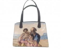 Ručne-maľovaná-dámska-kabelka-s-motívom-Michelangelo-The-Doni-Tondo-1