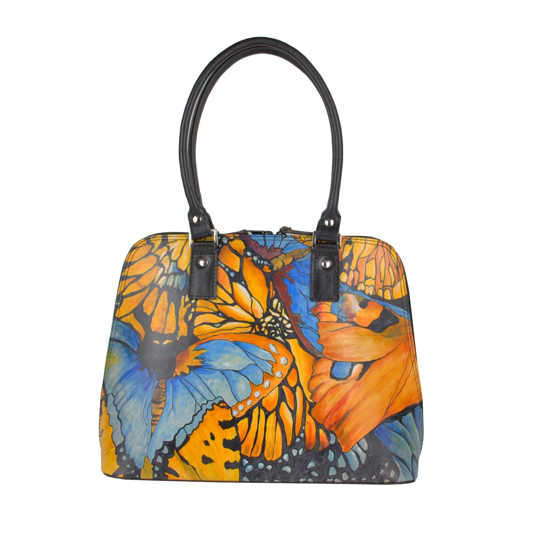 Ručne maľovaná kabelka 8573 s motívom Motýľe  328415c4df9