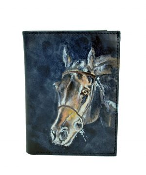 Ručne maľovaná peňaženka 8560 s motívom Koňa