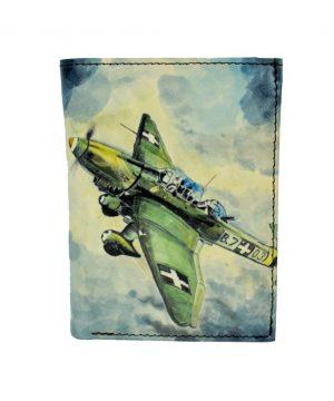 Ručne maľovaná peňaženka 8560 s motívom Lietadla