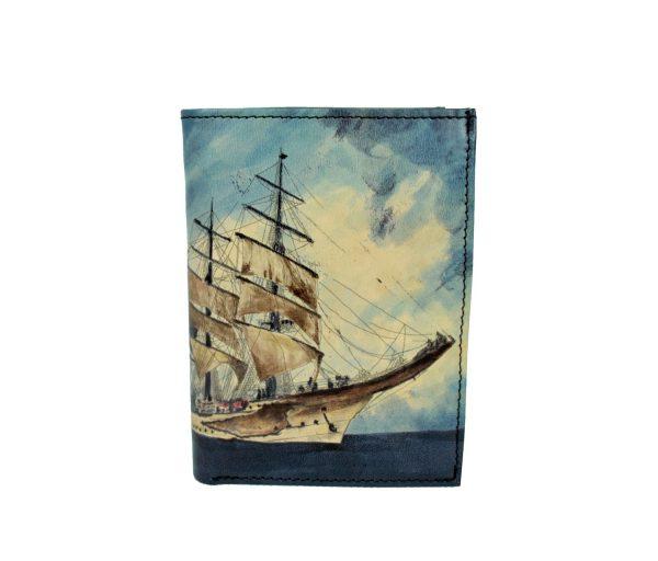 Ručne maľovaná peňaženka 8560 s motívom Pirátskej lode