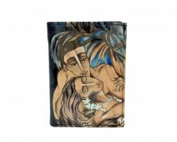 Ručne maľovaná peňaženka 8560 s motívom Pod palmami