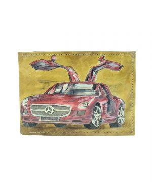 Ručne maľovaná peňaženka s motívom Mercedes (3)