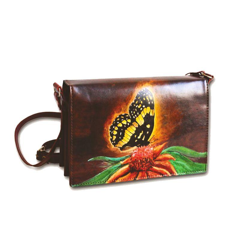 8e7bac6044f7 Ručne maľovaná kabelka 7391 s motívom Motýľa
