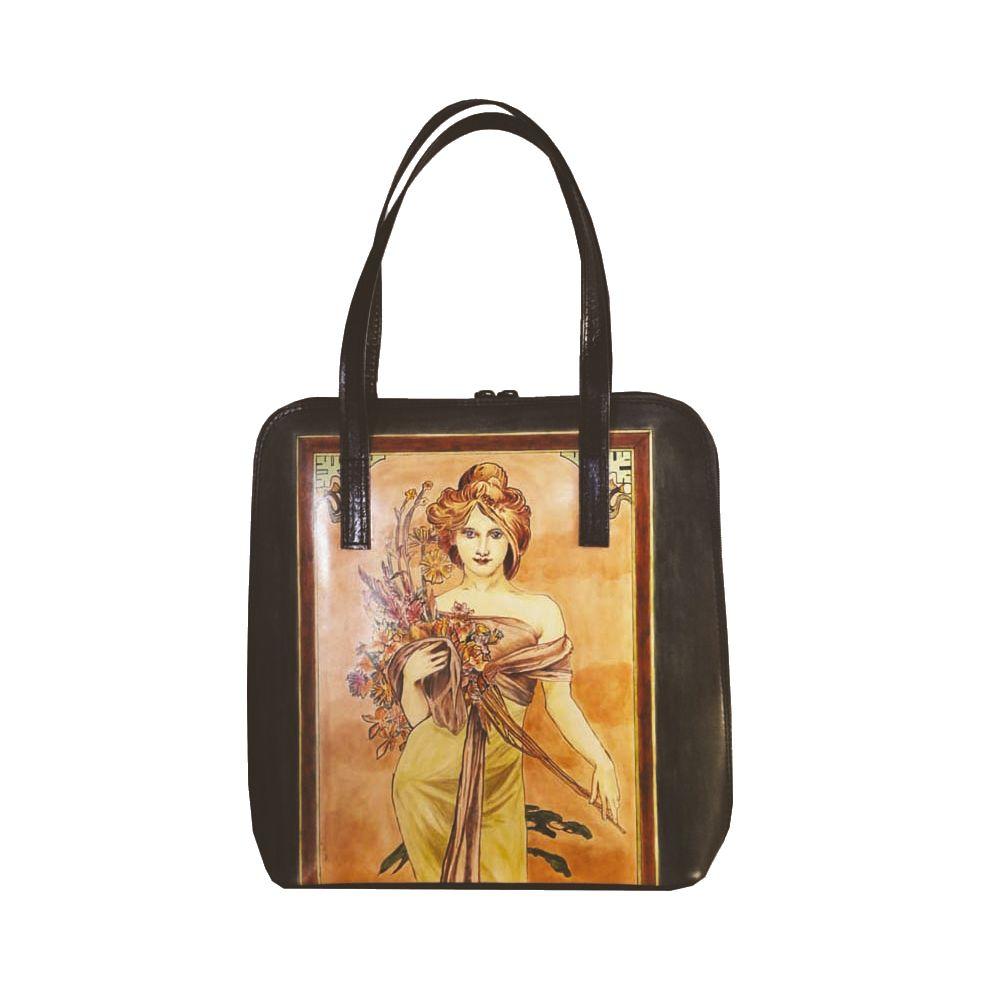 03ce528563 Ručne maľovaná kabelka 8192 inšpirovaná motívom Alfons Mucha ...