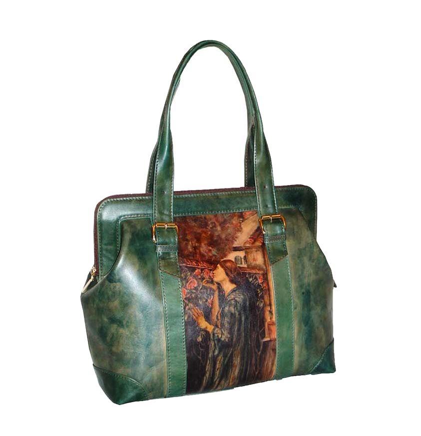 d12ecf6f8ade Ručne maľovaná kabelka 8221 inšpirovaná motívom John William ...