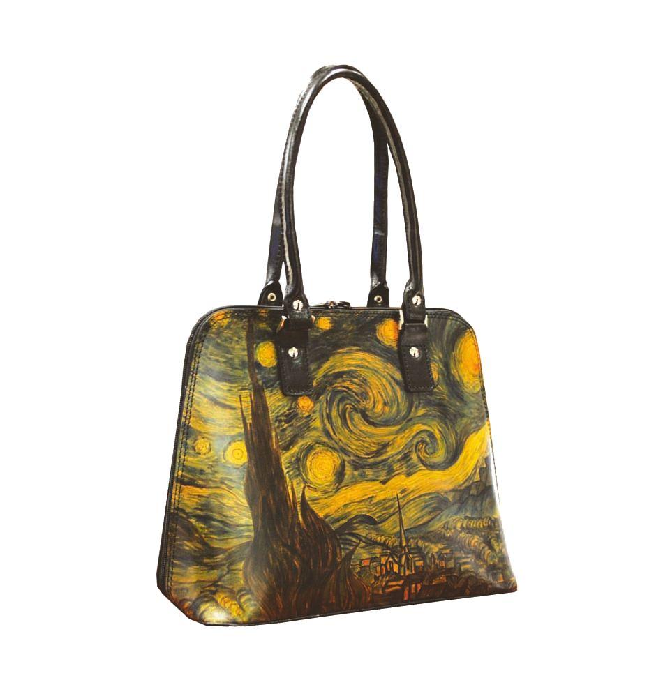52f399099e9c Ručne maľovaná kabelka 8573 inšpirovaná motívom Vincent Van Gogh ...