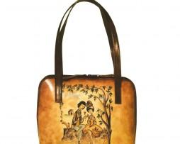 Ručne-maľovaná-kabelka-8574-s-motívom-Milenci-na-lavičke