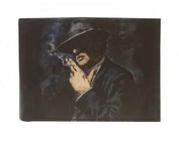 Ručne-maľovaná-peňaženka-8552-s-motívom-Muž-s-cigaretou-je-jedinečná-ručne-maľovaná-peňaženka-vyrobená-z-pravej-talianskej-kože.