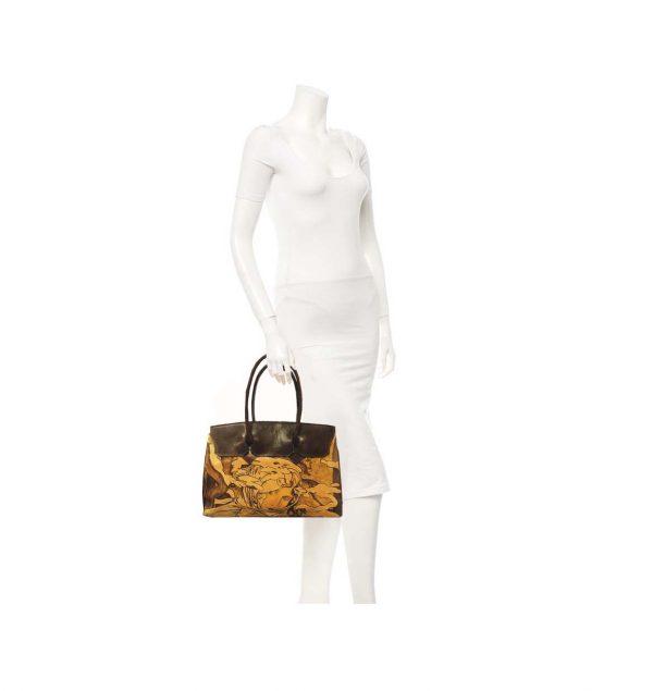 4233fb1258 Ručne maľovaná kabelka 8576 inšpirovaná motívom Alfons Mucha ...