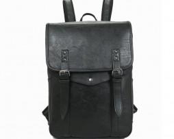 Unisex módny ruksak z kože v rôznych farbách je vhodný pre pánov aj dámy, ako moderný a trendy doplnok do mesta alebo do školy (1)