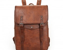 Unisex módny ruksak z kože v rôznych farbách je vhodný pre pánov aj dámy, ako moderný a trendy doplnok do mesta alebo do školy (4)