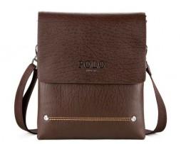 Biznis kožená taška POLO. Kožená taška obsahuje putko na prevesenie cez rameno, ktoré je nastaviteľné (1)