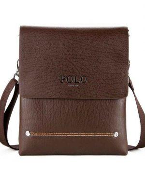 9dd907341 Biznis kožená taška POLO. Kožená taška obsahuje putko na prevesenie cez  rameno, ktoré je
