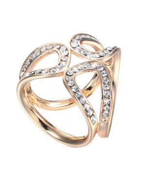 Elegantný kruhový šperk pre šatku alebo šál v zlatej farbe (1)