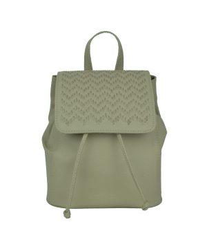 Kožený ručne vyšívaný ruksak v bežovej farbe (2)