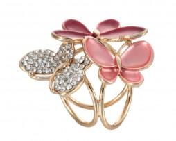 Krásna prstencová ozdoba na šatku alebo šál s motýľmi (1)
