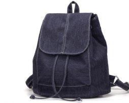 Nádherný dámsky ruksak z čiernej rifloviny